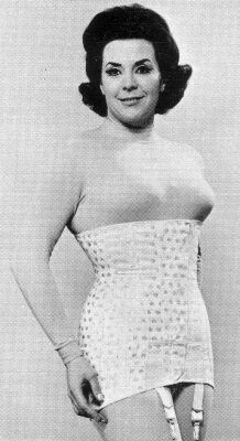 Note the waist and the satin skirt.