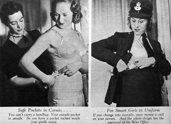 Corsets of women's in 1940.