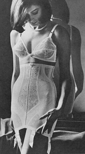 In Scandinavia , the tall girdle was very much in demand in the 1950's